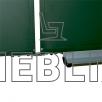 Школьная доска в металлополимерном профиле на 5 рабочих поверхностей