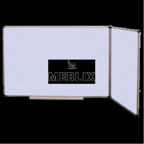 Доска школьная трехсекционная магнитная маркерная 3000 х 1000 мм