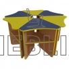 Стол детский одноместный Лепесток от производителя