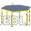 Столик детский шестигранный с регулировкой высоты