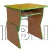 Регулируемый детский стол одноместный с полкой из ДСП