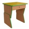 Детский стол для садиков одноместный регулируемый по высоте с полкой