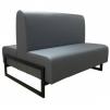 Двухсторонний диван для офиса на металлическом каркасе Юнис Дуал