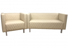 "Мягкий комплект мебели Астон для кафе и офисов: диван и кресло ""на стиле"""