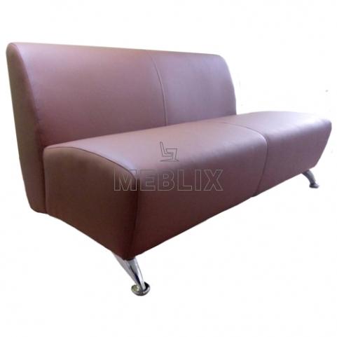 Офисный диван Roly-Poly на хромированных ножках