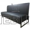 Трехместный диван для кафе на металлокаркасе Юнис