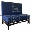 Мягкий диван для кафе на металлическом каркасе NORMAN