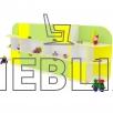Детская стенка для игрушек Чебурашка от производителя