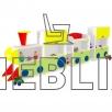 Игровая мебель Паровоз для детского сада от производителя