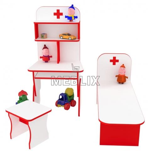 Детская игровая стенка Больница со стульчиком