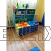 Шкаф с ящиками для спортивного инвентаря в детский сад✔️