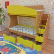 Кровать чердак Джунгли