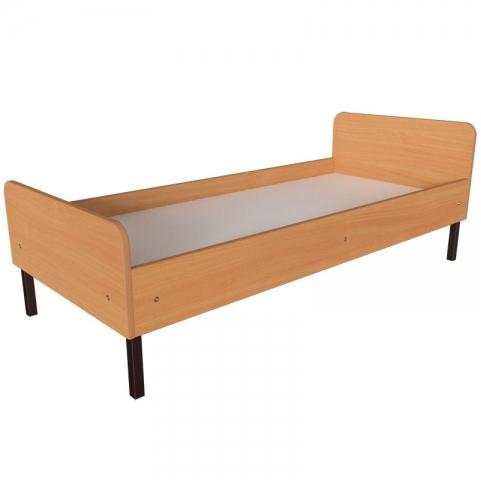 Медицинская одноместная кровать на металлическом каркасе