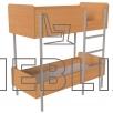 Металлическая двухъярусная кровать для общежитий