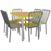 Комплект для столовой: стол ХРОМ и 6 стульев АРФО