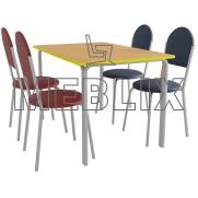 Обеденный комплект: стол ПРАГА четырехместный и 4 стула VELAS