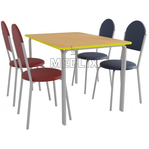 мебель для столовой: стол ПРАГА четырехместный и 4 стула VELAS