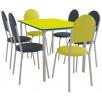 Комплект обеденный: стол ПРАГА и 6 стульев VELAS