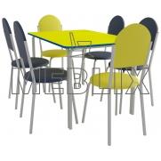 Комплект для столовой обеденный: стол ПРАГА и 6 стульев VELAS