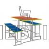 обеденный комплект для школьной столовой ( стол и две лавки )