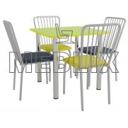 Комплект мебели для столовой: стол ХРОМ и 4 стула АРФО