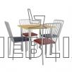 Набор мебели для столовой: стол ХРОМ и 4 стула АРФО✔️