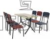 Комплект для кафе и столовой: СКОРПИОН и 6 стульев РИО