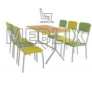 Комплект для кафе и столовой: СКОРПИОН и 6 стульев РИО✔️