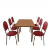 Мебельный комплект для кафе: стол обеденный Хром + 6 стульев Velas