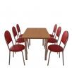 Комплект мебели для столовой: стол обеденный Хром + 6 стульев Velas
