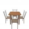 Мебельный комплект для столовой: стол обеденный Хром + 4 стула Кристи