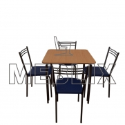 Комплект для кафе:  Стол Лира + 4 стула Лада
