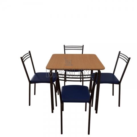 Купить мебельный комплект для столовой: стол Лира + 4 стула Лада