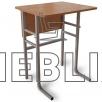 Стол аудиторный ученический одноместный c передней панелью
