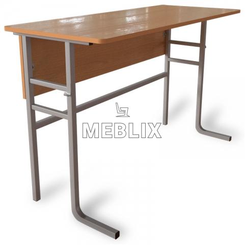 Стол аудиторный ученический двухместный c передней панелью