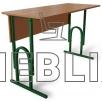Аудиторный стол двухместный П-образный регулируемый по высоте
