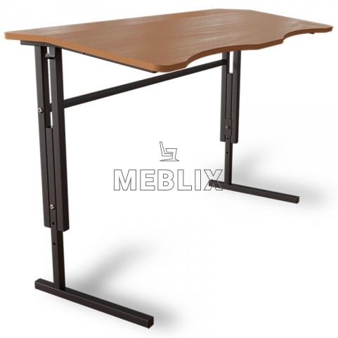 Антисколиозный аудиторный стол двухместный регулируемый по высоте
