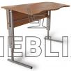 Купить антисколиозный аудиторный стол двухместный регулируемый по высоте с передней панелью