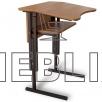 Антисколиозный аудиторный стол одноместный регулируемый по высоте с передней панелью и полкой
