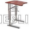 Антисколиозный аудиторный стол одноместный регулируемый по высоте