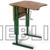 Антисколиозный аудиторный стол одноместный регулируемый по высоте с передней панелью