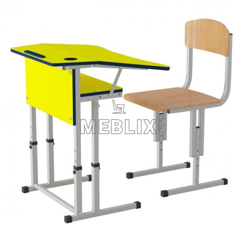 Комплект мебели для НУШ парта Трапеция и ученический стул