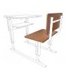 Ремкомлект для одноместной парты: спинка + сидушка