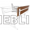 Ремкомлект для двухместной парты: спинка + сидушка