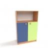 Шкаф для детских пособий с открывающимися дверцами Д-6