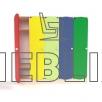 Шкафчик для детской раздевалки с цветными дверьми (5 секций)
