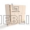 Детский шкафчик для раздевалки с лавкой (5 секций) от производителя