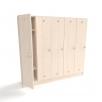 Шкаф для детской раздевалки на 5 секций от производителя