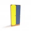 Секционный шкаф для детских садиков в раздевалку (2 секции)