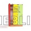 Шкаф детский для раздевалки с цветными дверцами (3 секции)